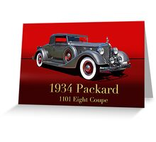 1934 Packard 1101 Eight Coupe w/ID Greeting Card