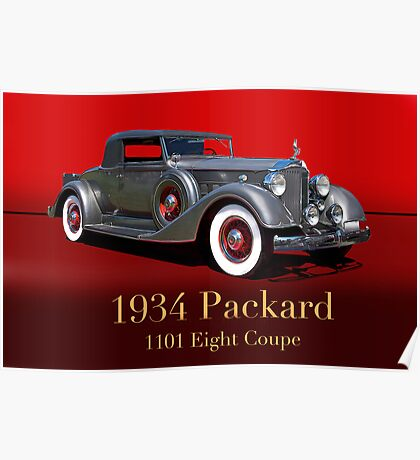 1934 Packard 1101 Eight Coupe w/ID Poster