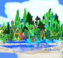 ACEO Landscape Fantasy Forest 1 by jkgiarratano
