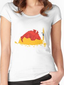 Sleeping Dragon Women's Fitted Scoop T-Shirt
