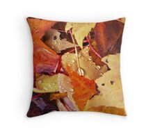 autumns colorful drops...two~ Throw Pillow