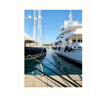 super yachts Art Print