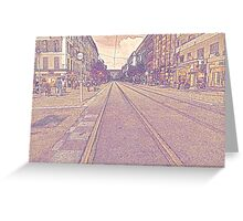 Tram Lines Greeting Card