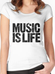 Music is Life Women's Fitted Scoop T-Shirt