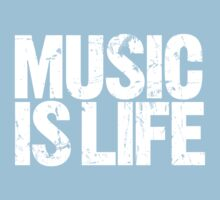 Music is Life (white) Baby Tee