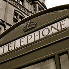 British black and white Phone box by Teenieweenie