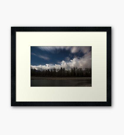By the Light of the Full Moon  Framed Print