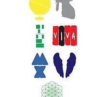 Coldplay album logos by Jeffgraz95