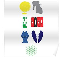 Coldplay album logos Poster