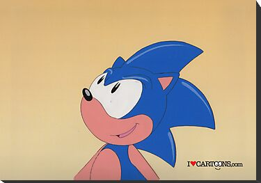 Sonic the Hedgehog (Production Cel) by Sebastian Sindermann