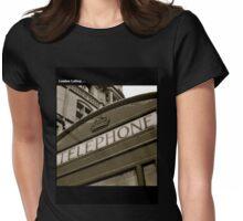 British black and white Phone box Womens Fitted T-Shirt