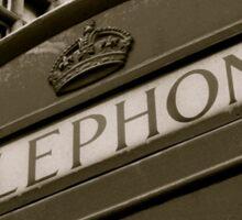 British black and white Phone box Sticker