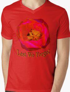 Lest We Forget, Poppy Mens V-Neck T-Shirt