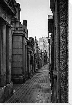 La Recoleta Cemetery 2 - in monochrome by photograham