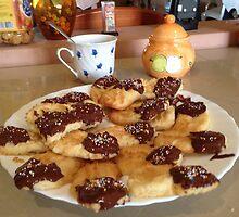 Viennese shortbread biscuit by lazarotable