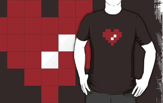 Valentine Heart in Pixel Art by jaredfin