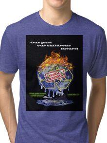 Global warming shirt from D.W.Arts Tri-blend T-Shirt