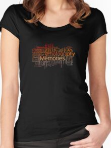 Photography Word Art 7 Women's Fitted Scoop T-Shirt