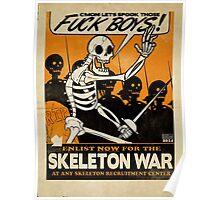 Skeleton War Poster