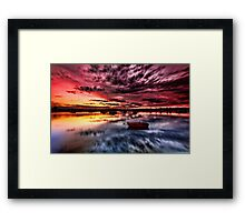Riding into the Sunset Framed Print