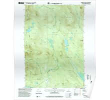 USGS TOPO Map New Hampshire NH Dummer Ponds 329543 1996 24000 Poster