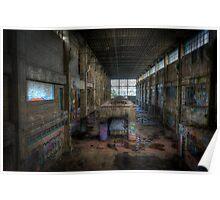 Derelict Factory Geelong Poster