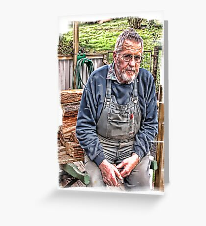Portrait of a dear husband Greeting Card