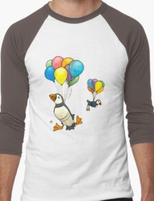 The Puffins Are Getting Carried Away Men's Baseball ¾ T-Shirt