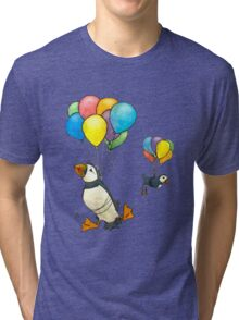 The Puffins Are Getting Carried Away Tri-blend T-Shirt