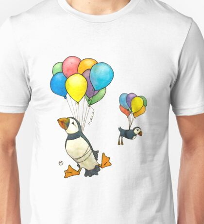 The Puffins Are Getting Carried Away Unisex T-Shirt