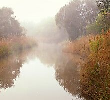Peaceful Barrabool River - Geelong by Hans Kawitzki