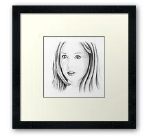 Karen Gillan portrait Framed Print