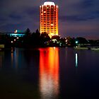 Wrest Point Hotel Casino 40th Birthday Lights. by Maureen Johnston