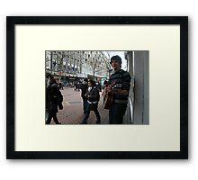 Birmingham Busker Framed Print