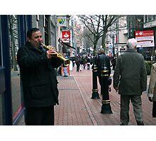 Birmingham Busker - clarinetist Photographic Print