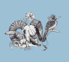 The Ram skull and bird Kids Tee