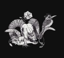 The Ram skull and bird Baby Tee