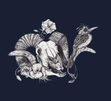 The Ram skull and bird Kids Tee