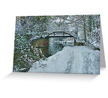 Murray`s Bridge Looking North - HDR Greeting Card
