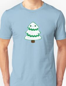 Cute tree with snow Unisex T-Shirt