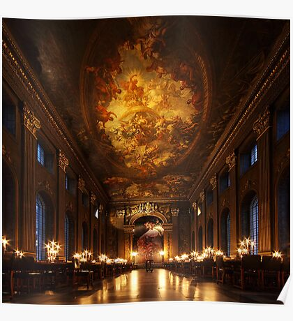 Painted Hall, Old Royal Naval College Poster
