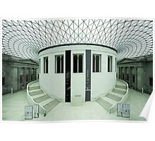 The British Museum. Panorama of the Great Court. Poster