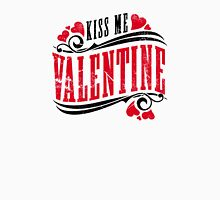 Kiss me Valentine Womens Fitted T-Shirt