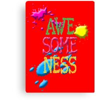 awesome Canvas Print