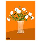 Flower vase - orange by LizPoulain