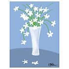 Flower vase - blue by LizPoulain