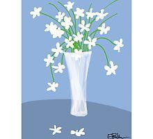 Flower vase - blue by LizPoulain