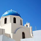 blue Santorini  by thvisions