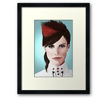 Fierce Ruby Lucas. Framed Print
