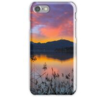 Dusk at Lake Wörthersee iPhone Case/Skin